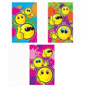 Smiley Face Notebook Notepad Jotter - Boys & Girls Party Bag Fillers